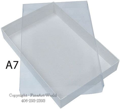 a7 card box template clear top greeting card boxes