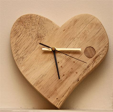 wooden clocks hand crafted valentine wooden clock by furniture magpies