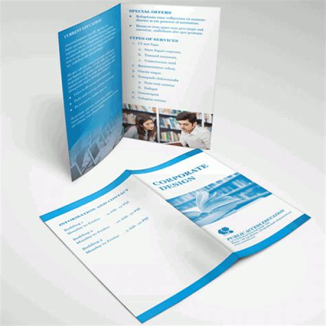 Half Fold Brochures Half Fold Brochure Template Free