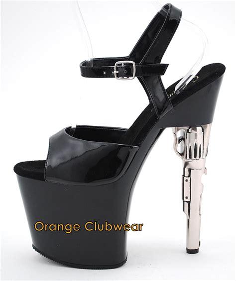 gun high heels pleaser new gun high heel platform shoes ebay