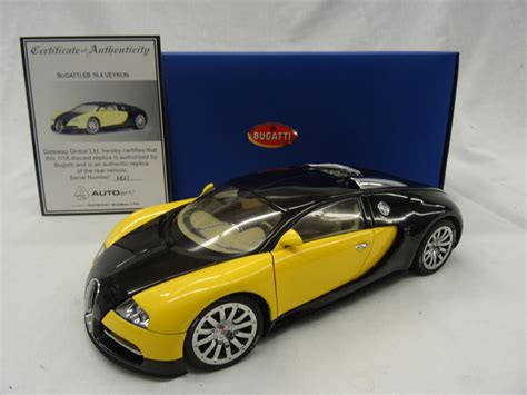 yellow and silver bugatti autoart scale 1 18 bugatti veyron 16 4 showcar