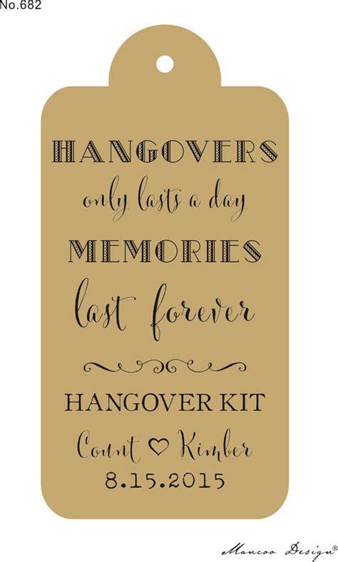 printable hangover kit tags hangover kit rubber st for wedding favor tags survival