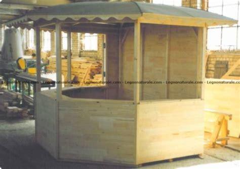 gazebo per mercatini prezzi chiosco poligonale in legno per uso fiera legnonaturale