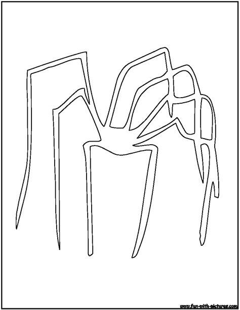 spider outline coloring page spider outline coloring page