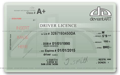 driver license fun card templates yogametr