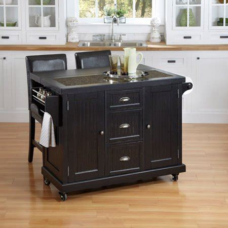 home styles nantucket kitchen cart and 2 stools