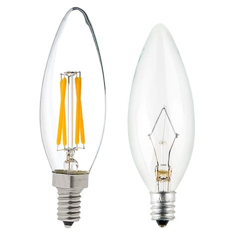 Filament Light Bulb Fixtures B10 Led Filament Bulb 35 Watt Equivalent Led Candelabra Bulb W Blunt Tip Dimmable 350