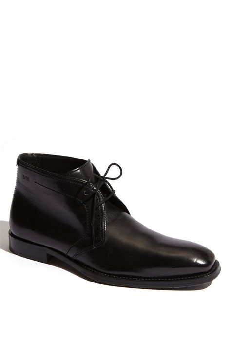 hugo mens boots sale hugo black clavio chukka boot in black for