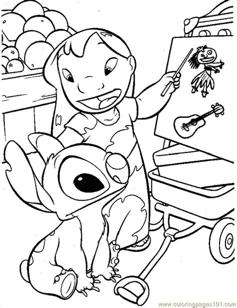 free lilo and stitch coloring pages to print coloring pages lilo9 cartoons gt lilo and stitch free