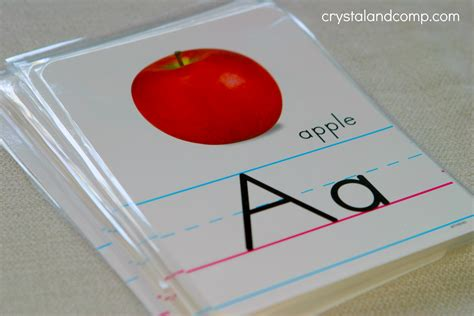Diy Alphabet Flash Card Template by Teach Your Preschooler Their Abcs