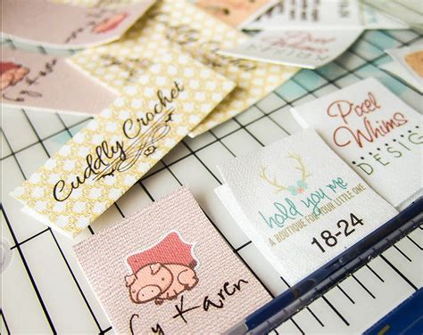 Handmade Fabric Labels - fold custom fabric labels or tags custom sizes your
