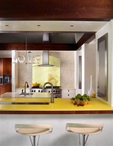 yellow modern kitchen tips for a yellow themed kitchen