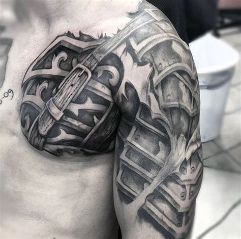 badass shoulder tattoos 34 best armor images on armour