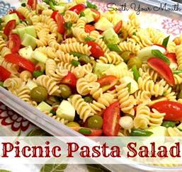 south your mouth picnic pasta salad