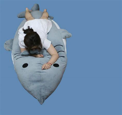 big shark pillow shark stuffed plush dakimakura hugging