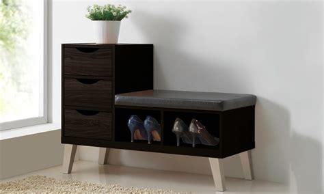 modern shoe rack bench modern shoe storage cabinet groupon goods