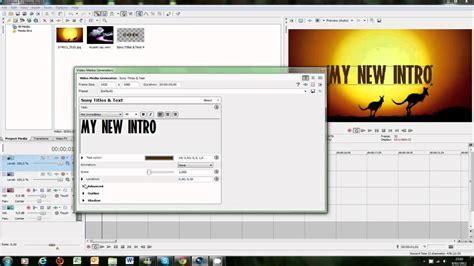 tutorial sony vegas pro 11 intro tutorial hoe maak je een intro sony vegas pro 11 0
