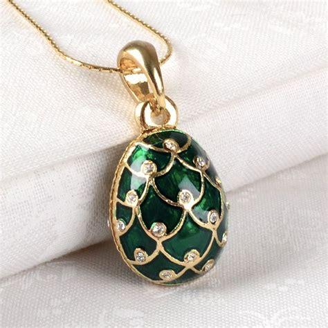 green gold faberge egg pendant