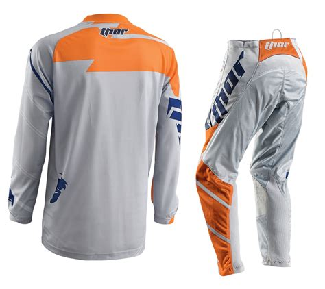 online motocross gear new thor mx gear set phase vented grey orange motocross