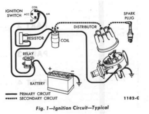 automotive wiring diagram resistor to coil connect to