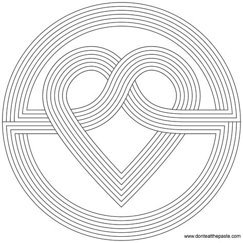 simple pattern colouring pages heart coloring pages ready for download or print