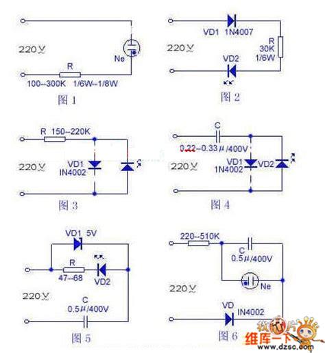 led resistor 220v 220v led indicator light circuit diagram led and light circuit circuit diagram seekic