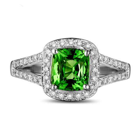 beautiful  carat cushion cut emerald  diamond halo