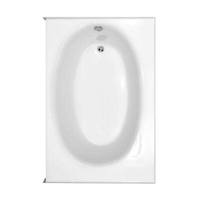 kona bathtub hydro systems kona 5 ft left drain bathtub in white kon6018ltow the home depot