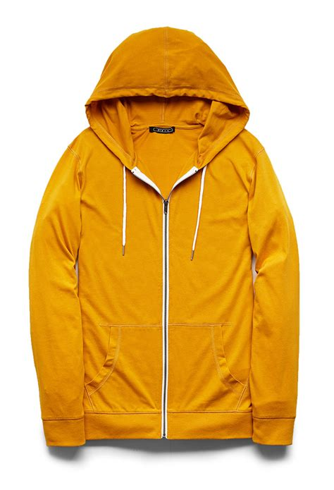Hoodie Zipper Yellow Claw Leo Cloth lyst forever 21 zippered drawstring hoodie in yellow for