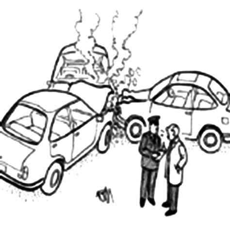 coloring page of car crash netart 1 place for coloring for kids part 20