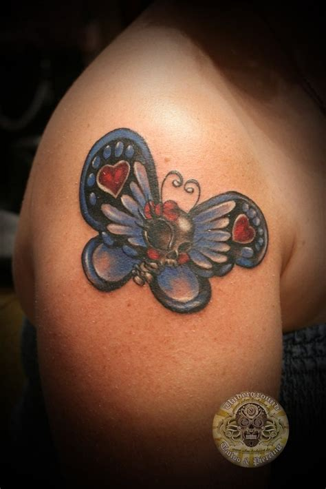 tattoo butterfly and skull butterfly skull tattoo inked pinterest
