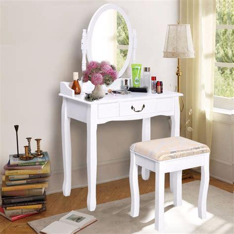 Dressing Table Vanity Sets by Goplus 2017 New Makeup Dressing Table Vanity And Stool Set
