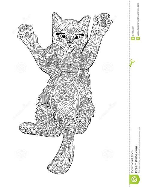Lustiges Katzchen Malbuch Fur Erwachsene Zentangle