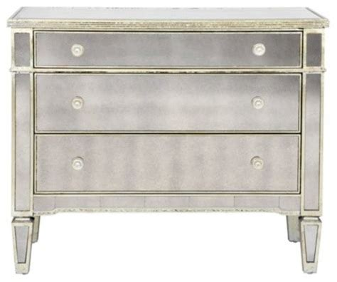 Borghese Mirrored Armoire by Borghese Mirrored 3 Drawer Chest Transitional Dressers