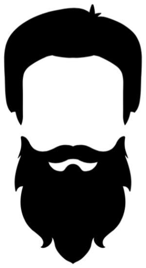 Beard clipart plain, Beard plain Transparent FREE for