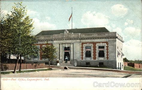 Logansport Post Office by Post Office Building Logansport In