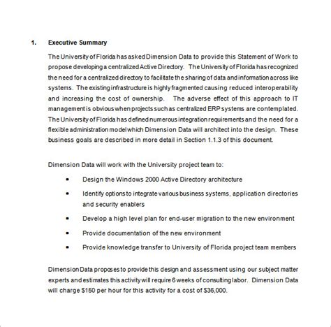 work proposal template 15 free sle exle format