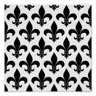black and white french pattern black and white new orleans posters black and white new
