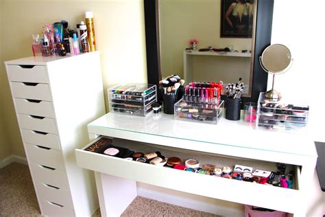 ikea makeup organizer makeup collection storage updated casey holmes youtube