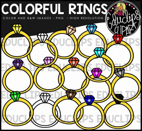 colorful rings colorful rings clip bundle color and b w welcome