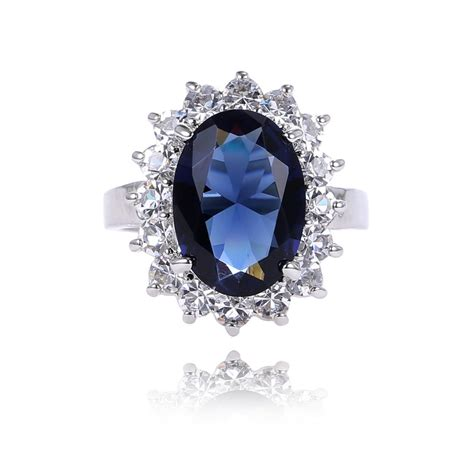 free shipping top quality classic princess diana ring