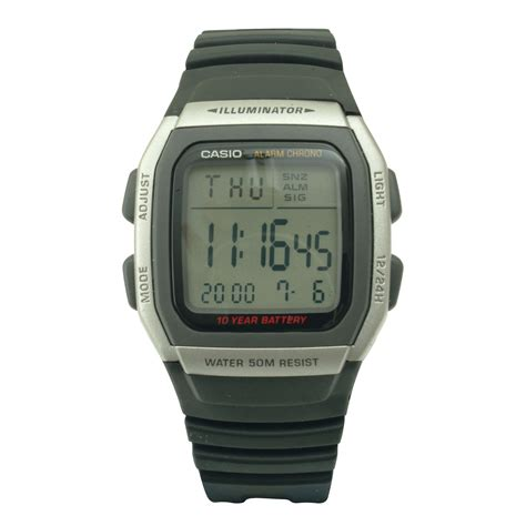 casio mens digital with 10 year battery