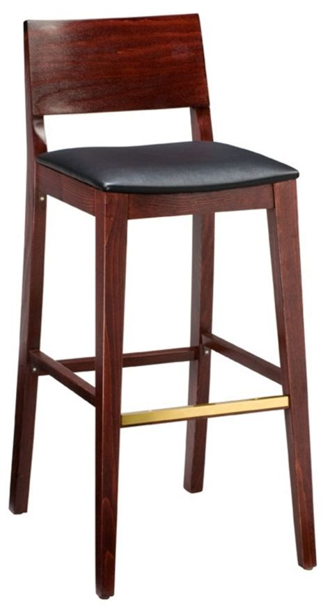 bar stools for restaurant wood bar stool 2438 half back bar stool restaurant bar