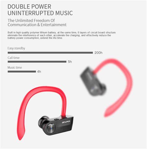 Headset Bluetooth Awei awei t2 wireless bluetooth earphone with mic black