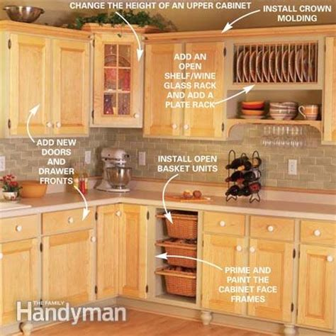 kitchen cabinet facelift ideas cabinet facelift the family handyman