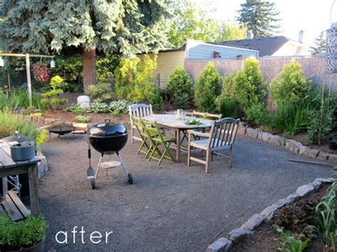Gravel Patio Designs Backyard Pea Gravel Inspiration Back Yard