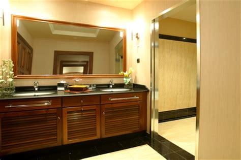 how to put a frame around a bathroom mirror how to frame plain bathroom mirrors ehow