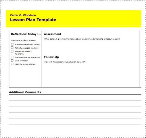 simple lesson plan template for teachers besttemplates123