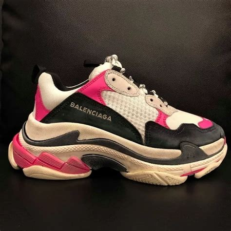 balenciaga shoes s pink leather trainers 37 poshmark