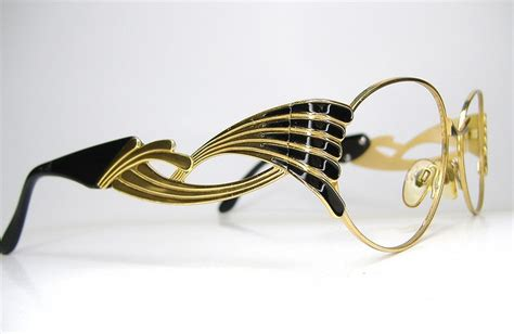 vintage black and gold glasses eyeglasses